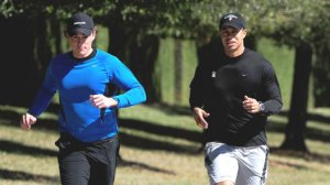 Tiger Woods seen running near his home at Isleworth in Windermere, Florida