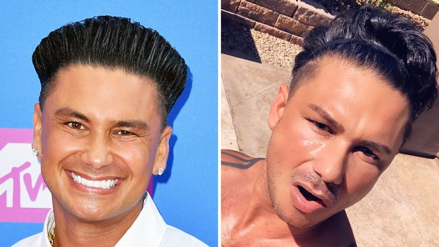 pauly d shows off gel-free hairstyle: see the shirtless photo