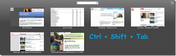 ctrl shift tab feature in firefox 3.6
