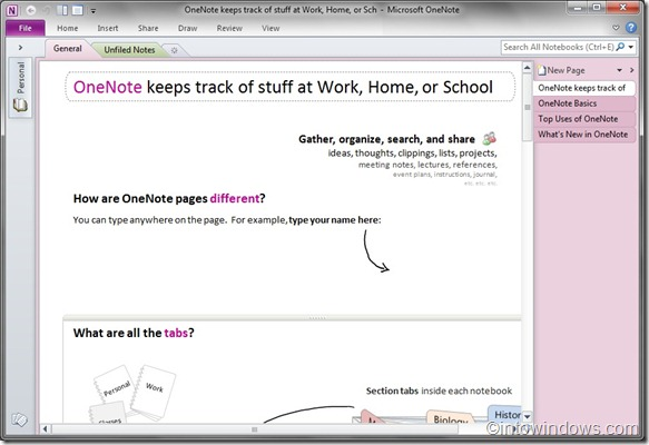 office 2010 onenote