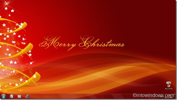 Christmas theme for Windows 7