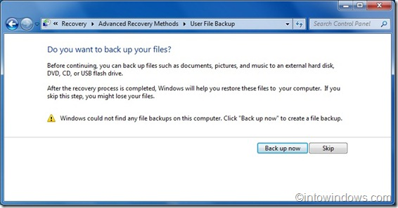 User File Backup