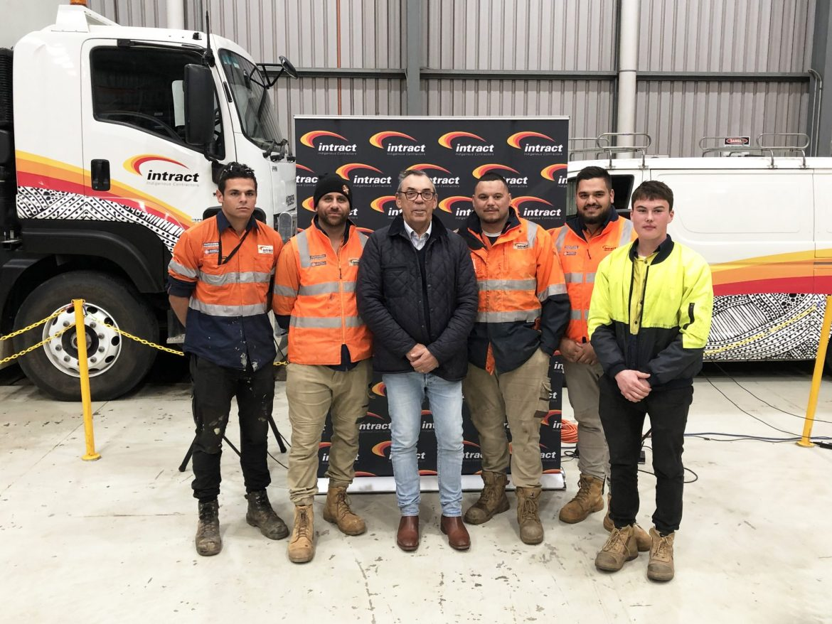 Group photo of the Intract team at NAIDOC Week in South Australia