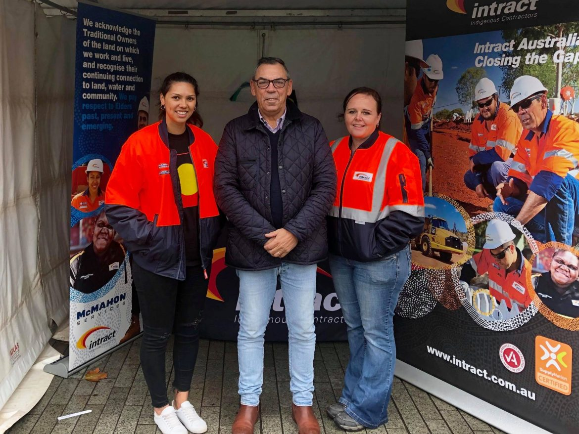 Intract staff attending the NAIDOC Week with stands in South Australia