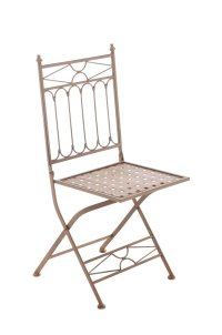 Folding Iron Garden Chair ASINA Foldable Patio Outdoor ...