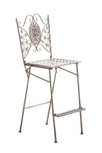 Garden Bar Stool BEGONA Iron Folding Chair High Patio ...