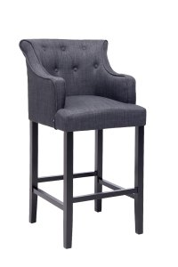 Bar Stool LYKSO Tweed Fabric Breakfast Kitchen Barstools ...