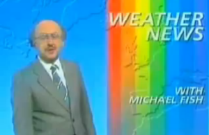 Michael Fish dismisses the prospect of a storm when reading the weather forecast