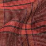 Intreccio disegno scozzese bordeaux su puro cashmere