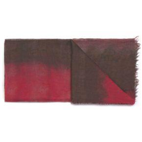 C10752 Sciarpa Tye&Dye 100% Cashmere - Rosso Marrone