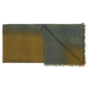 C10752 Sciarpa Tye&Dye 100% Cashmere - Verde Oro