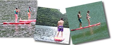 paddle sur les lacs du jura