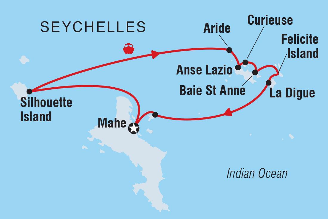 hight resolution of cruising the seychelles islands