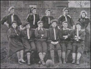 Lady Dixie President of British ladies Football Club from 1895