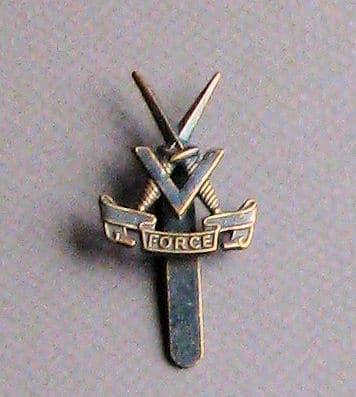 The V Force Cap Badge