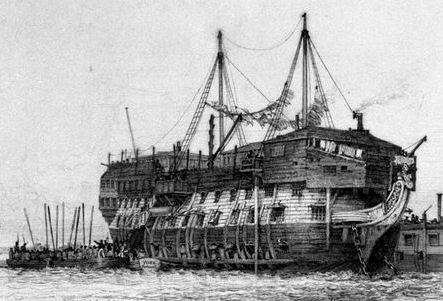 Portsmouth Harbour was home to several prison hulks in the C19th