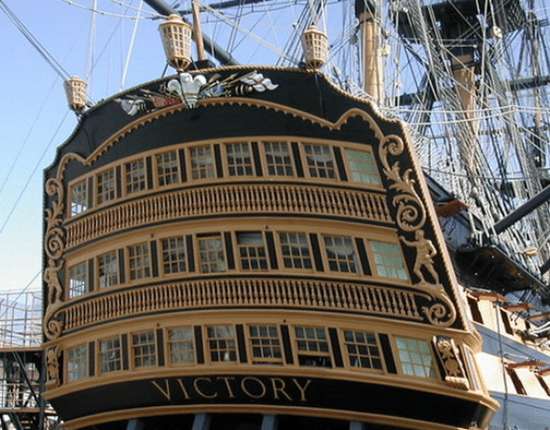 Stern of HMS Victory Portsmouth