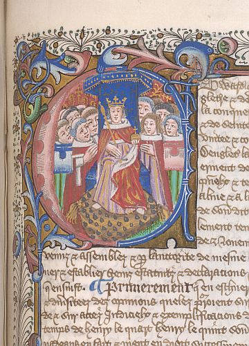 Edward IV Historiated initial British Library copyright free