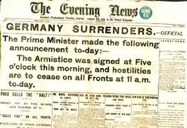ww1 armistice hits the headlines