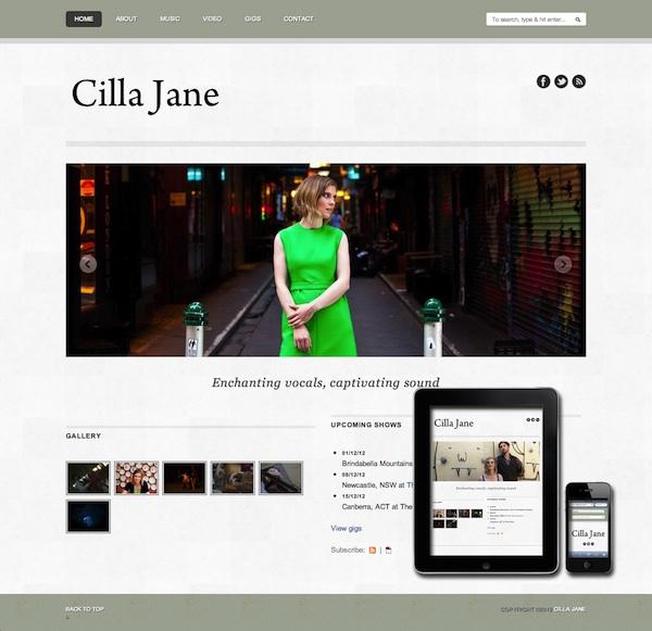 Cilla Jane website is responsive