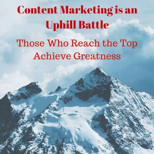 Content Marketing is a uphill battle