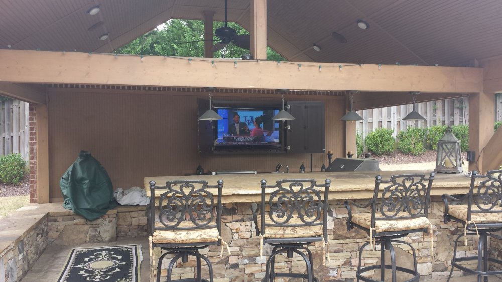 medium resolution of consultation making the right choice easy do you want your new tv mounted over the fireplace or a weather proof flat panel connected in your outdoor