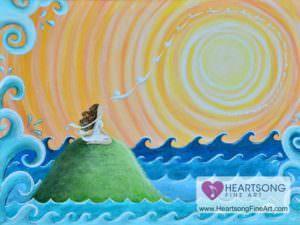 angel at high tide