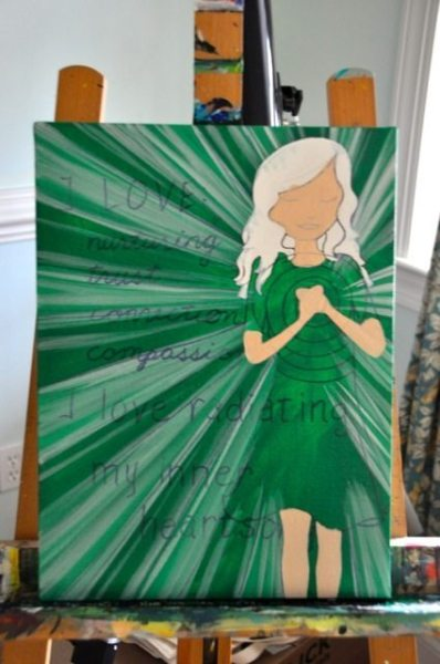 Begin to fill in background skin tones...