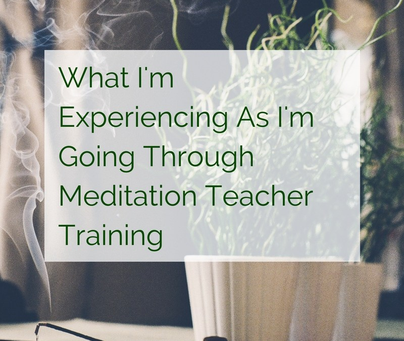 What I'm Experiencing As I'm Going Through Meditation Teacher Training