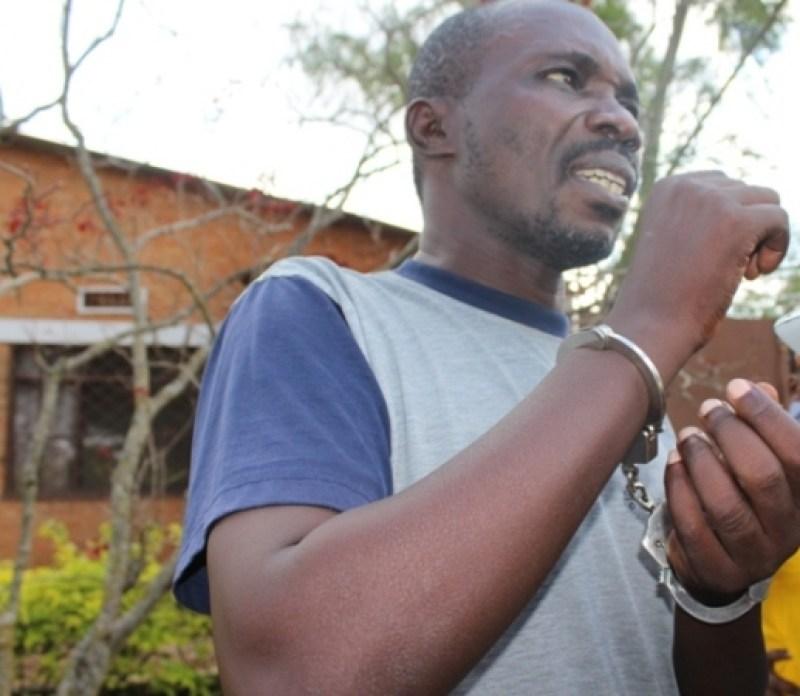 Minani Hussein ubwo Polisi yamwerekaga itangazamakuru amaze iminsi ine afashwe.