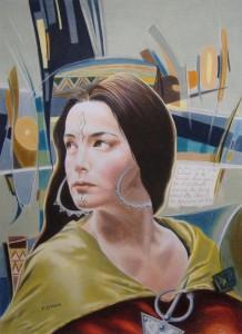 رسم تخيّلي للملكة الآوراسية ذايا (ديهيا أو الكاهنة)