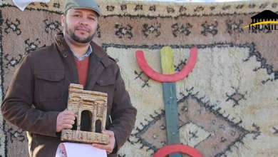 "Photo of زميلنا يوغرطا حنّاشي يُكرّم بجائزة ""آمراو ن-وورغ"" بتيمقاد"