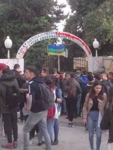 مدخل ثانوية عبد الرحمان الايلولي أمس