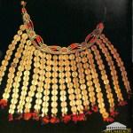 Achentouf  - Collier fait de pièces d'argent et de corail  (Kabylie)