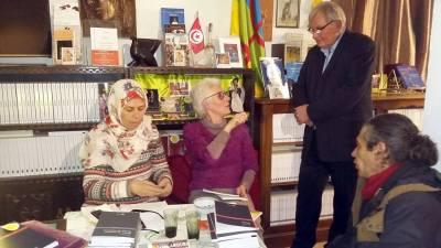 Saida Abouba le 30 janvier à la librairie Sefraber à Perpignan