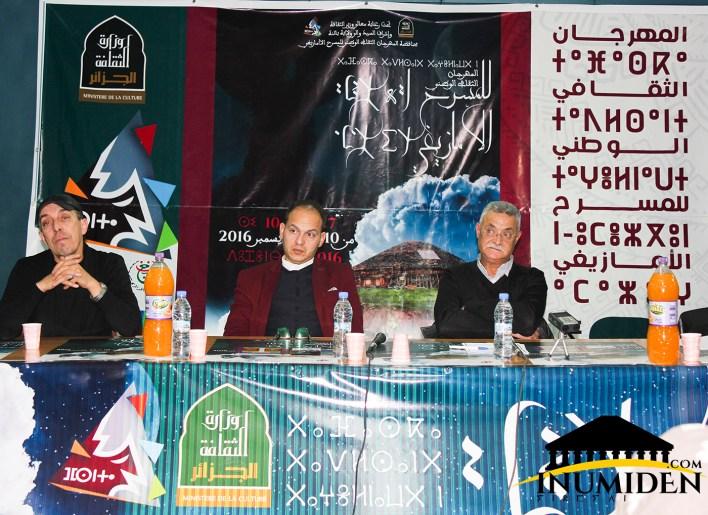 Conférance de presse animée par le commissaire mas Salim Souhali