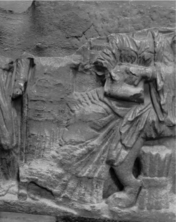 Fig. 6 : Sarcophage de Tébessa (cl. de l'auteur d'après Gsell S., Tébessa, 1902, pl. VIII, 2.).