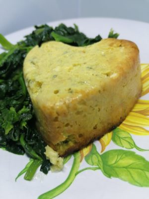 Sformato di zucchine con ricotta salata