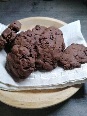 Cookies al cioccolato e olio d'oliva
