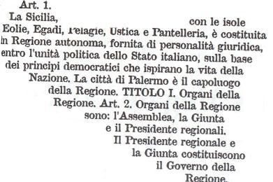 Ricordando i 71 anni dello Statuto siciliano pensando ai giovani