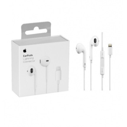Auriculares EarPods para IPhone, IPod, conector Lightning. Originales Apple. Caja