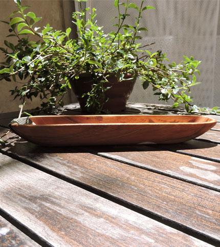 Foto 2 - Aceitunero de madera acacia