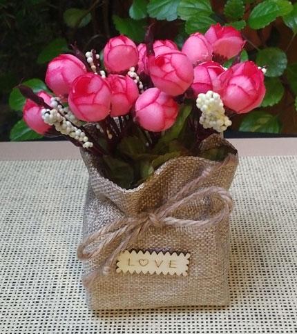 Foto 1 - Modelo 1 - Flor rosa - Frente