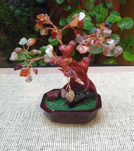 Foto 1 - Arbol bonsai con piedras semi preciosas