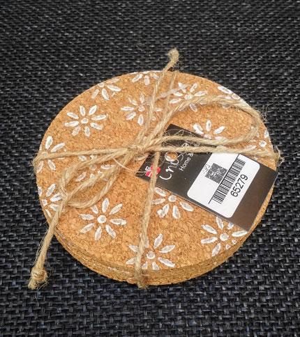 Foto 2 - posavasos corcho - Diseño flores - Cerrado