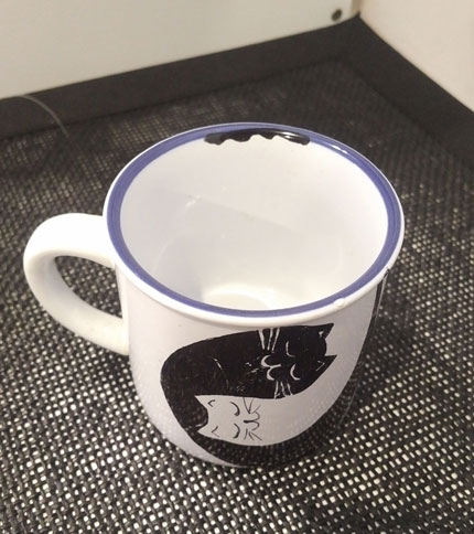 Foto 2 - Taza Retro Mini - Diseño gatos acurrucados