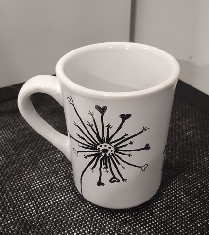 Foto 3 - Taza ceramica pintada a mano - Diseño flor