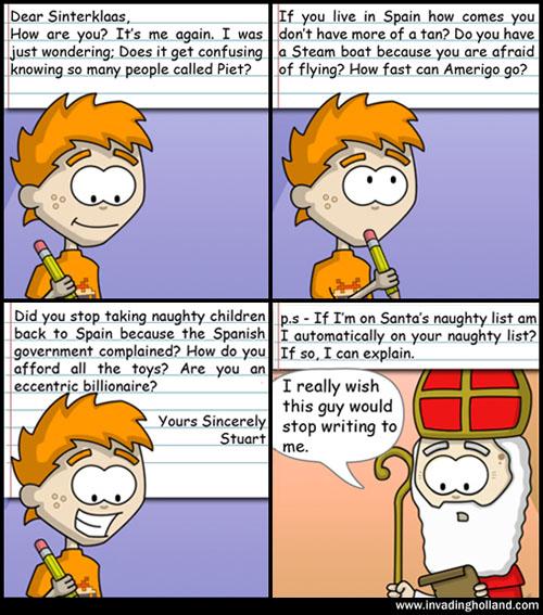 Bugging Sinterklaas Comic