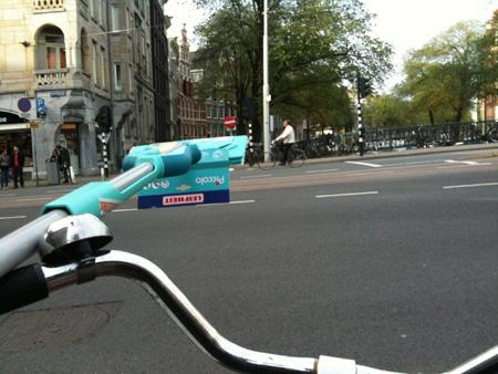 Mop Attack Cyclist
