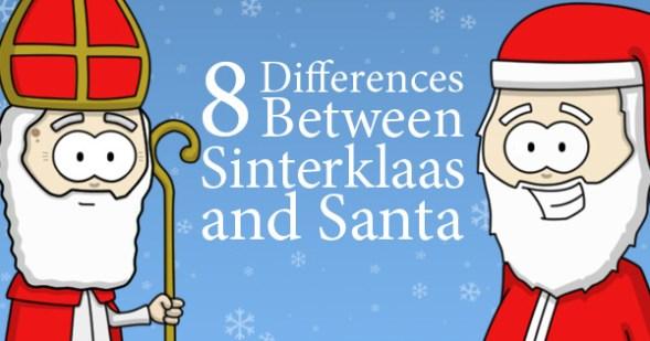 Sinterklaas vs. Santa - Eight Differences